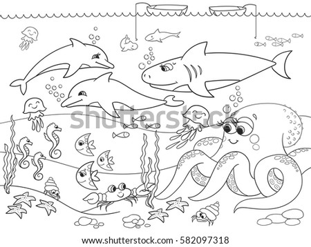 seabed with marine animals