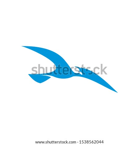 Seabird Maritime Logo Sea Gull Silhouette Vector Elements Stockfoto ©