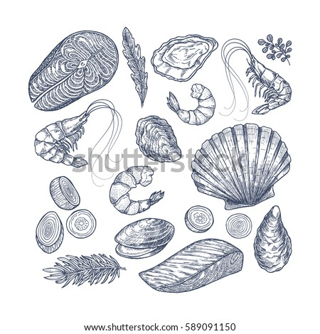 seafood collection. engraved...