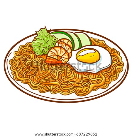 seafood fried noodle  or