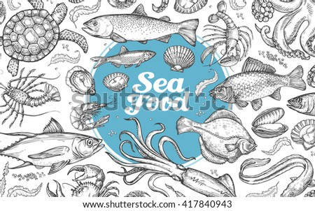 seafood or underwater world
