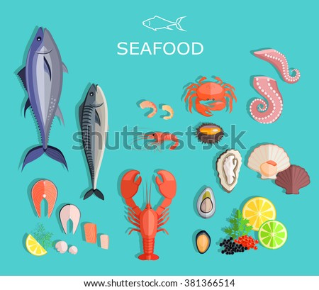 Coloring template with fish - Download Free Vector Art, Stock ...