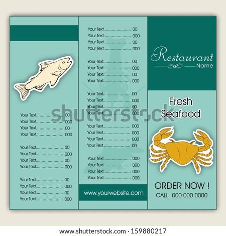 Seafood Restaurant Men...