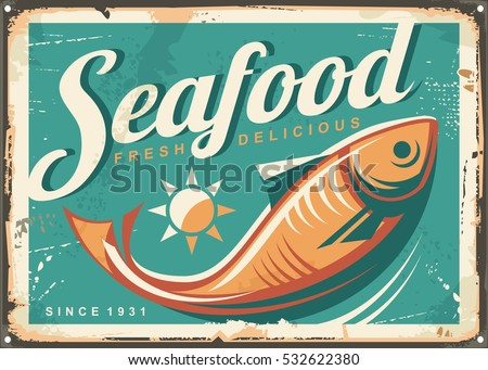 seafood restaurant vintage...