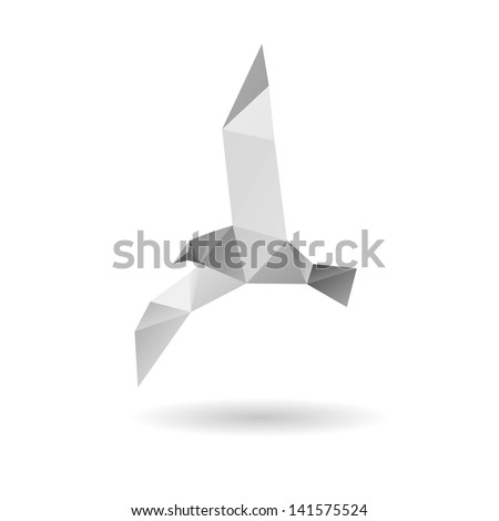 Seagull isolated on a white backgrounds