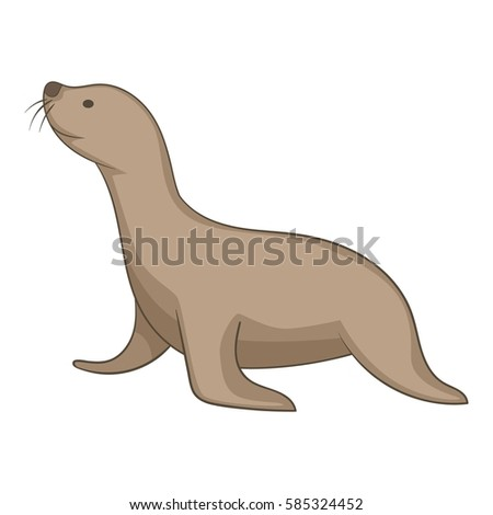 seal animal icon cartoon