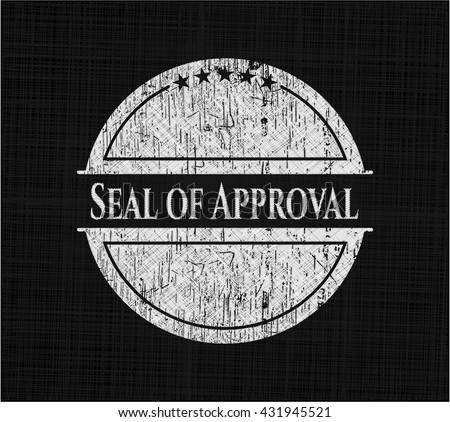 Seal of Approval on chalkboard
