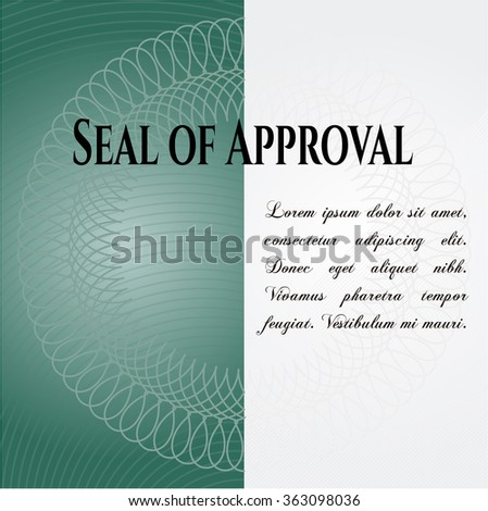 Seal of Approval poster or banner