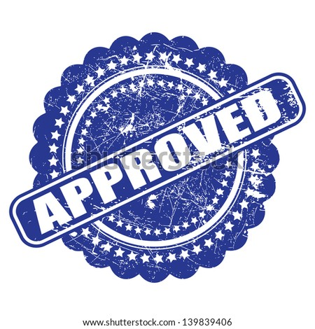 Seal Of Approval Quality Check Grunge Vector On White Background This Graphic Illustration