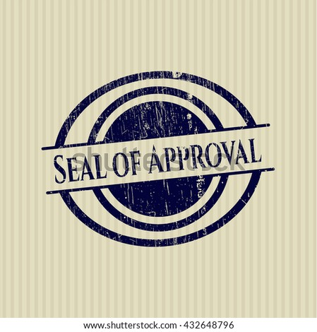 Seal of Approval rubber grunge stamp