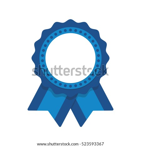 Seal ribbon blue vector #523593367