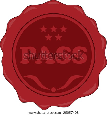 Sealing wax with word pass