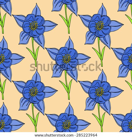 seamles floral background with