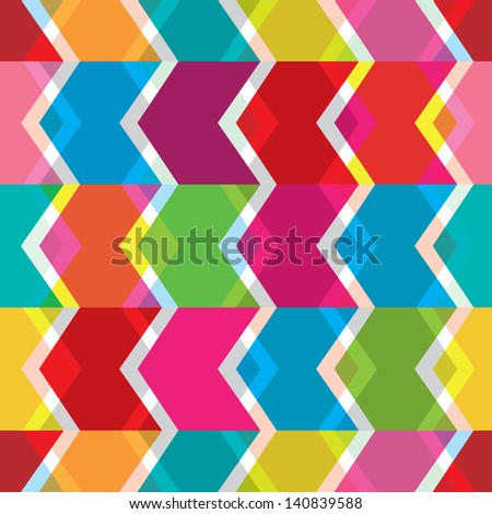Seamless abstract back to the eighties retro background pattern in vector