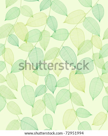 seamless abstract background with green leaflets