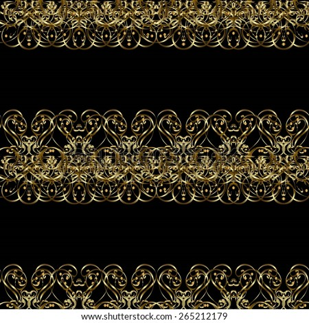 Seamless abstract background with repeating elements. Elegant vector classic pattern. And golden pattern. #265212179