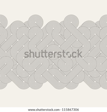 Seamless abstract border. Twisted lines. Vector illustration