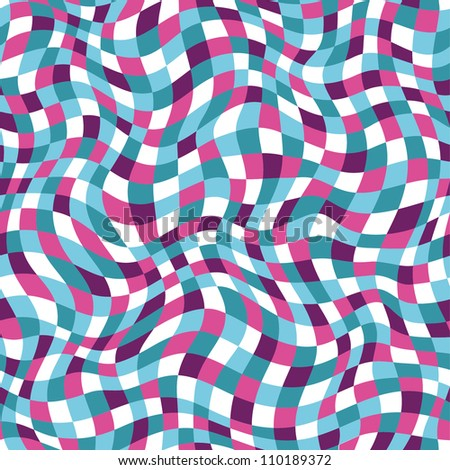 Seamless abstract color plaid texture. Vector illustration
