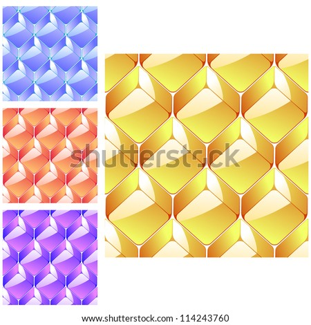 Seamless abstract crystal background
