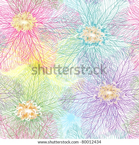 Seamless abstract flower texture