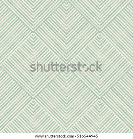 Seamless abstract geometric pattern in turquoise and beige on texture background. Endless pattern can be used for ceramic tile, wallpaper, linoleum, textile, web page background.