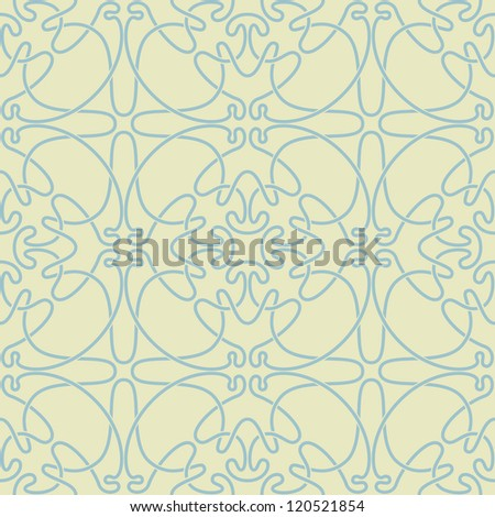 Seamless abstract green and blue pattern. Vector illustration