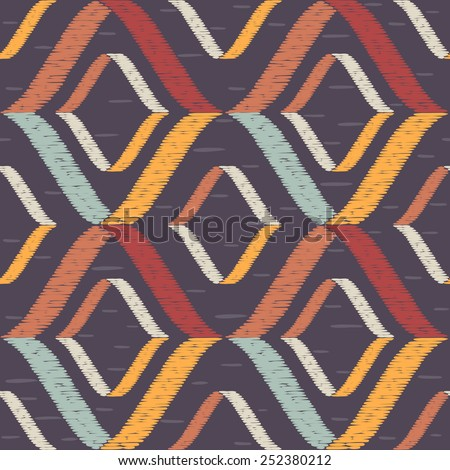 Seamless Abstract Hand-drawn Pattern in Ethnic Style. Tribal Vector Background