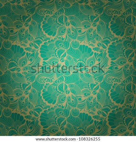 Seamless abstract hand-drawn waves pattern, wavy background. Seamless pattern can be used for wallpaper, pattern fills, web page background,surface textures. Gorgeous seamless floral background