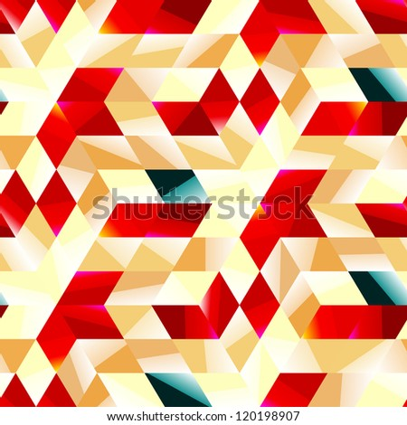 Seamless abstract mosaic. Vector illustration.