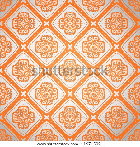 Seamless abstract ornamental wallpaper pattern background vector illustration