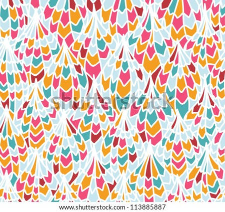Seamless abstract pattern. Can be used for wallpaper, pattern fills, web page background, surface textures, textile. Hand-drawn vector pattern.