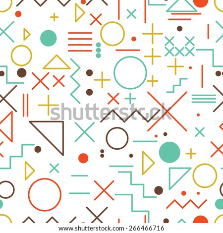 seamless abstract pattern  flat