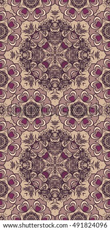 Seamless abstract pattern, hand drawn texture for Wedding, Bridal, Valentine's day or Birthday Invitations, Flyers. Floral background. Fabric or paper print, floral geometric background. #491824096