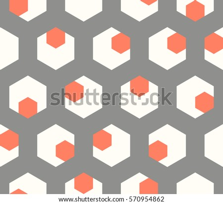 Seamless abstract pattern of geometric shapes.Geometric background with hexagons.