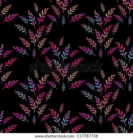 Seamless abstract pattern on dark background