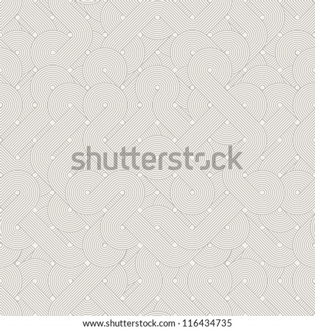 Seamless abstract pattern. Twisted lines. Vector illustration