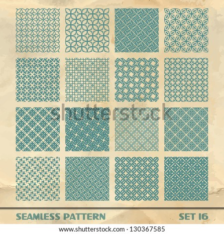 Seamless abstract pattern. Vector set.