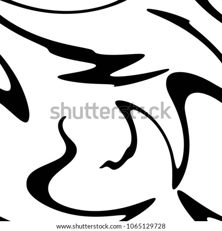 Seamless abstract pattern with black shabby lines on white background. Geometric background.  Vector illustration. Animal pattern. black and white