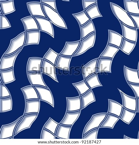 Seamless abstract pattern with blue tiles