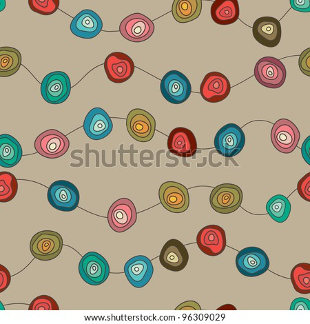 Seamless Abstract Pattern With Circles