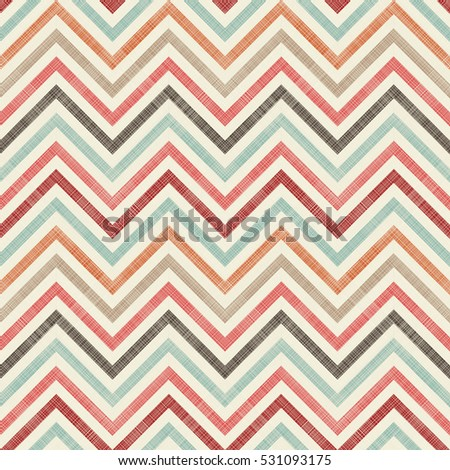Seamless abstract pattern with colorful zigzag stripes. Endless pattern can be used for ceramic tile, wallpaper, linoleum, textile, web page background.