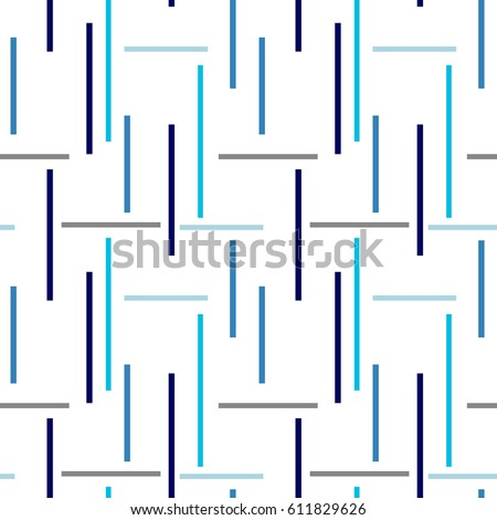 Seamless abstract pattern with horizontal and vertical stripes on texture background in retro colors.