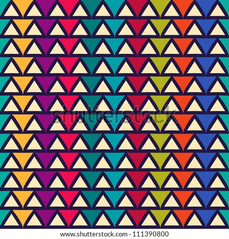 Seamless abstract pattern with triangle. Can be used in textiles, for book design, website background.