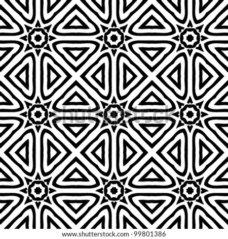 Floral black and white pattern background vector illustration stock