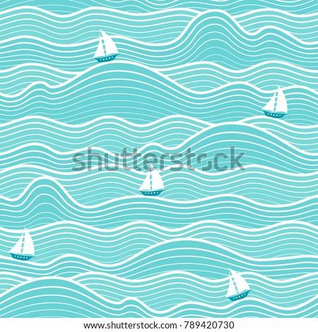 seamless abstract sea