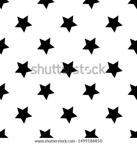 seamless abstract star black