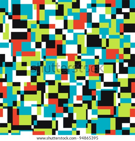 Seamless abstract texture with rectangles. Vector mosaic  illustration.