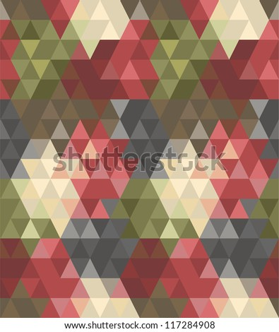 Seamless abstract triangle pattern #1