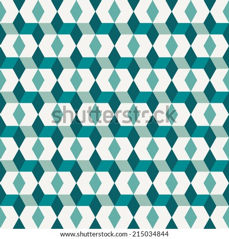 Seamless abstract vector pattern turquoise color