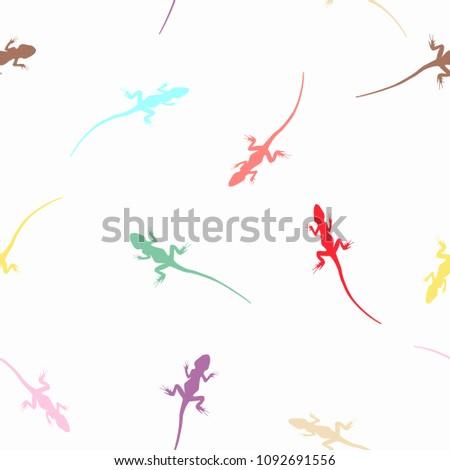 seamless abstract wild animals